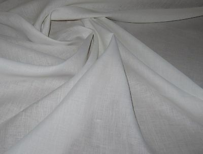 Oyster White 100% European Pure Linen Fabric 3-3.5oz By The Yard