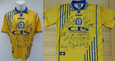 1998-00 Blackburn Rovers Away Shirt Signed by Squad (9131)