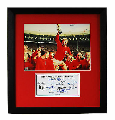 England 1966 World Cup Final Winners Fully Signed Presentation Bobby Moore