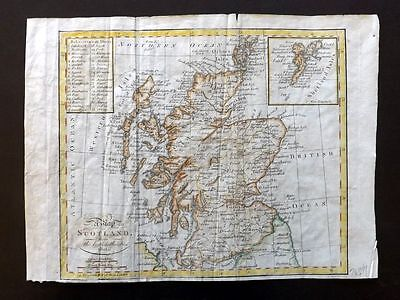 Guthrie 1801 Hand Col Map. A Map of Scotland from the best Authorities