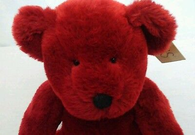 """Russ Berrie 10"""" Stuffed Plush Bear RUBY NWT Bears From the Past"""