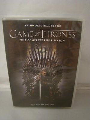Game of Thrones Complete First Season DVD Set HBO Original Series 10 Hours
