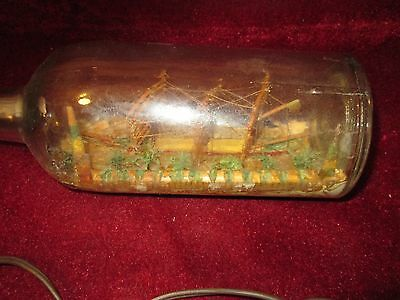 SHIP IN A BOTTLE ~ MADE by FRANK BUONO WARDEN OF RIKERS ISLAND PRISON - 1938