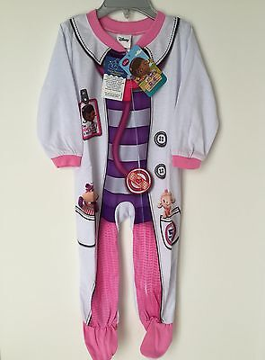 Disney Doc McStuffin Baby Girl Footed Pajamas 18M 24M 2T 3T 4T Sleeper New Tags