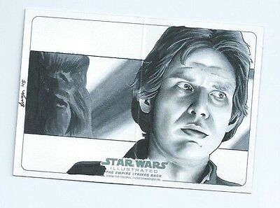 2015 Star Wars Illustrated Empire Strikes back panorama sketch Steph Swanger (b)