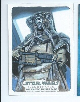 2015 Star Wars Illustrated Empire Strikes back sketch Kris Penix