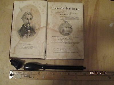 Antique Medical Blood Letting Instrument And Text - Mid 19Th Century