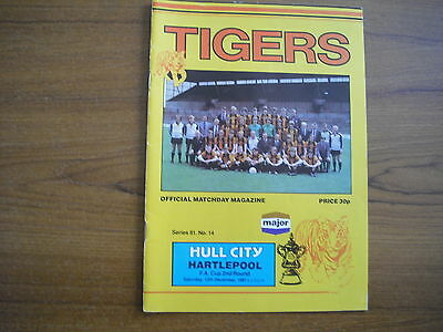 HULL CITY v HARTLEPOOL UNITED - DECEMBER 12th 1981 - FA CUP