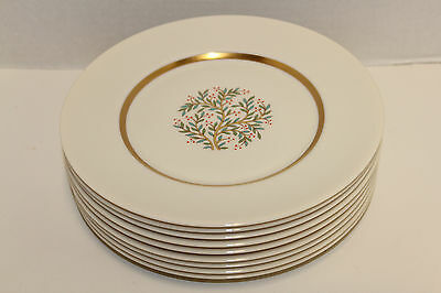 "Set 9 Franciscan California, Fremont Pattern; 8 3/8"" Lunch, Salad, Desert Plates"