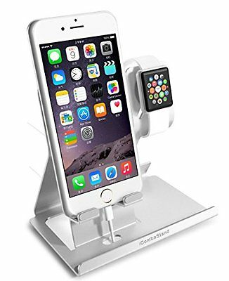 MODERN ALUMINUM Stand Charger Charging Dock Station For APPLE WATCH + iPHONE