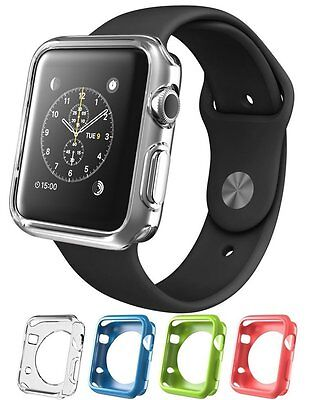 PINK COVER CASE Screen Protector Film Accessories For iWatch 38MM APPLE WATCH 1