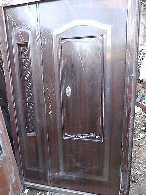 front exterior heavy duty metal doors 62''X 96'' high end security16 dead bolts