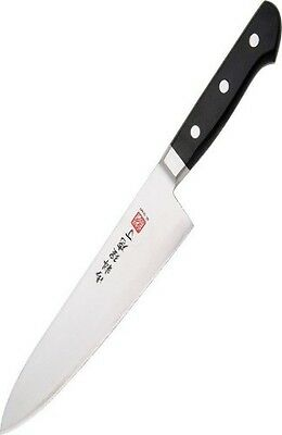 "New Al Mar Chef's Knife AMC8 8"" blade. These knives have black pakkawood handles"