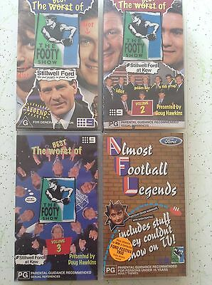 4 THE FOOTY SHOW VHS VIDEOS Bulk Lot