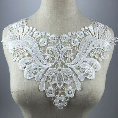 Vintage Embroidered Lace Trim Collar Neckline Lace Dress Decor DIY Sewing