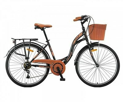 damen cityrad 28 mit korb citybike 6 g nge cantaloupe. Black Bedroom Furniture Sets. Home Design Ideas