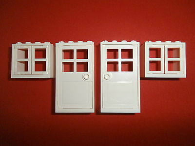 lego 4 fenster in rot gelb 2x4x3 noppen neuware eur 2 99. Black Bedroom Furniture Sets. Home Design Ideas