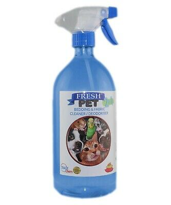 FRESH PET 2 in 1 BEDDING & FABRIC Clean & Deodorise - 1 Litre with Spray ALPINE