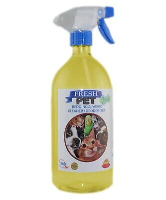 FRESH PET 2 in 1 BEDDING & FABRIC Clean & Deodorise - 1 Litre with Spray LEMON