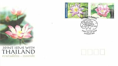Australia 2002 Water Lilies Joint Issue with Thailand FDC