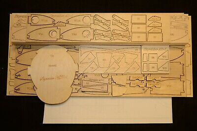 Large Scale KATANA X scratch build Aerobatic R/c Plane Plans 78 in. wing span