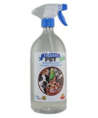FRESH PET 2in1 BEDDING & FABRIC,Clean & Deodorise -1L with Spray - LINEN FRESH