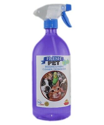 FRESH PET 2in1 BEDDING & FABRIC,Clean & Deodorise -1L with Spray - LAVENDER