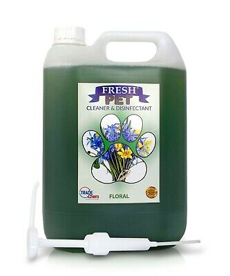 Fresh Pet Kennel Cattery Disinfectant & Deodoriser 5L FLORAL - WITH PUMP