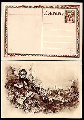 Austria early Beethoven & Schubert unused postal stationery cards WS1420