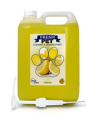 Fresh Pet Kennel Cattery Disinfectant & Deodoriser 5L LEMON - WITH PUMP