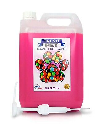 Fresh Pet Kennel Cattery Disinfectant & Deodoriser 5L BUBBLE GUM - WITH PUMP