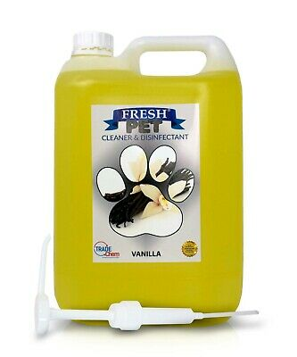 Fresh Pet Kennel Cattery Disinfectant & Deodoriser 5L VANILLA - WITH PUMP