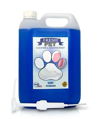Fresh Pet kennel disinfectant 5L BABY POWDER - WITH PUMP