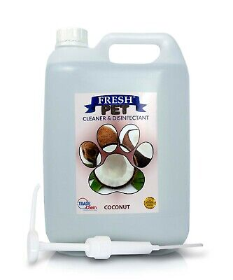 Fresh Pet Kennel Cattery Disinfectant & Deodoriser 5L COCONUT - WITH PUMP