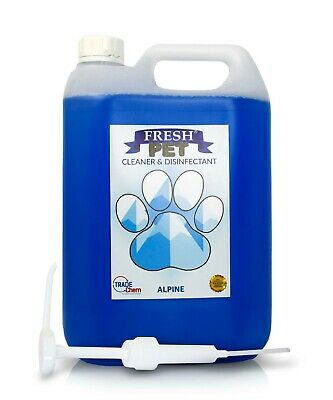 Fresh Pet Kennel Cattery Disinfectant & Deodoriser 5L ALPINE - WITH PUMP