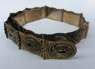 Antique Ottoman Islamic Hand Crafted Sultan Tughra Silver Belt