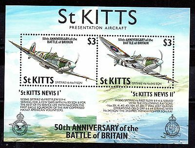 St Kitts 1990 Battle of Britain MS311 MNH mini sheet WS1477