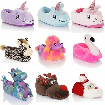 Unisex Ladies Mens Womens 3D Slippers Animal Print And Fabric Dot Sole Shoes