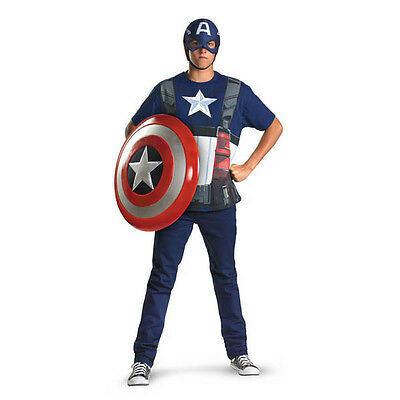 Captain America Movie t-shirt adult costume shield not included