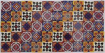 Pack of 50 Assorted Mexican Handmade 5cm Tiles: El Cuadrángulo