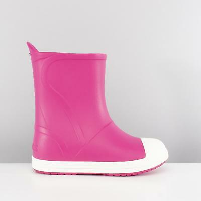 Crocs BUMP IT BOOT Kids Boys Girls Pull On Wellington Boots Candy Pink/Oyster
