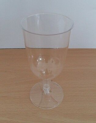 Clear Plastic Wine Glasses Disposable 64 Pack Great Value!