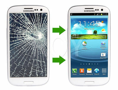 Samsung Galaxy S3 i9300 Screen Replacement Cracked Front Glass Repair Service