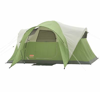 COLEMAN Montana 6 Person WeatherTec Family Camping Tent w/ Carry Bag   12' x 7'