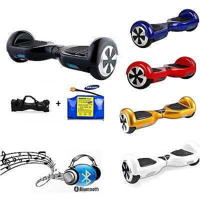 """6.5""""  Samsung Bluetooth Music Balance Electric Scooter Wheel Hover Hoverboard"""