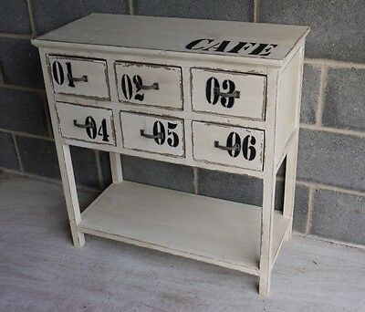 Vintage Retro Style Painted Wooden Chest Of Drawers
