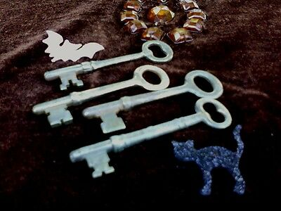 Vintage Skeleton Keys Lot of 4 Sargent, Etc.