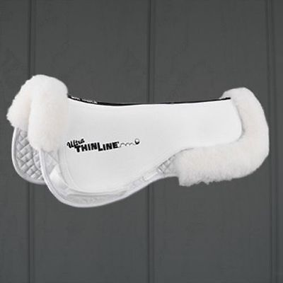 ThinLine Trifecta Cotton Ultra Half Pad w/Sheepskin 7415 -WHITE, BROWN or BLACK