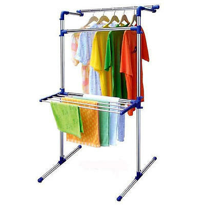 New Clothes Laundry Drying Rack Airer Foldable Hanging Indoor and Outdoor