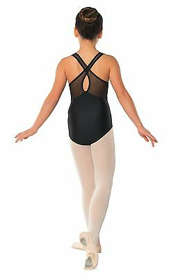 Girls Kids Children's Leotard With Mesh Insert Front And Keyhole Back by DANSHUZ
